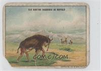 Indians Disguised as Buffalo Hunting Elk [Poor]