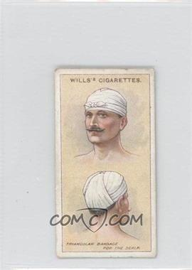 1913 Wills First Aid - Tobacco [Base] #5 - Triangular Bandage [GoodtoVG‑EX]