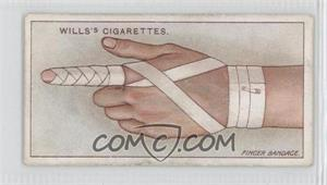 1913 Wills First Aid Tobacco [Base] #40 - Bandage for Finger [Good to VG‑EX]