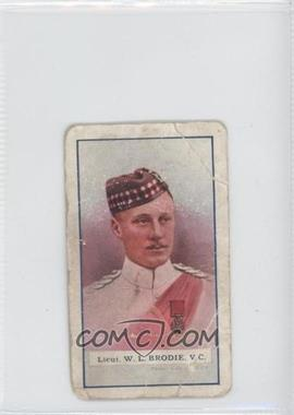 1918 Gallaher The Great War Victoria Cross Heroes Series 1 Tobacco [Base] #1 - Lieutenant W. L. Brodie [Fair]