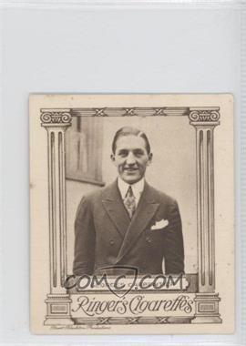 1923 Ringer's Cinema Stars Series of 25 - Tobacco [Base] #25 - Georges Carpentier