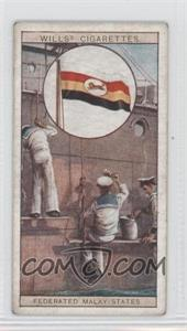 1929 Wills Flags of the Empire Series 2 - Tobacco [Base] #7 - Flag of the Federated Malay States [GoodtoVG‑EX]