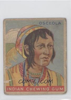 1933 Goudey Indian Gum - R73 - Series of 192 #29 - Osceola