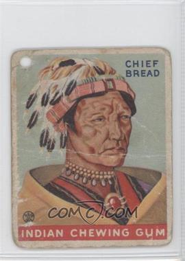 1933 Goudey Indian Gum R73 #160 - Chief Bread