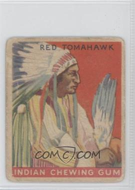 1933 Goudey Indian Gum R73 #48 - Red Tomahawk