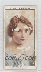 1934 Wills Radio Celebrities Series 1 Tobacco [Base] #21 - Isobel Baillie [Poor]