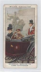 1935 Wills The Reign of H.M. King George V 1910-1935 Tobacco [Base] #7 - Memorial Service to Lord Kitchener [Poor]