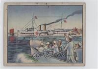 Gunboat Oahu Sails In Defiance Of Japs