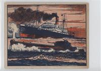 Largest Submarine Captures Nazi Merchant Ship