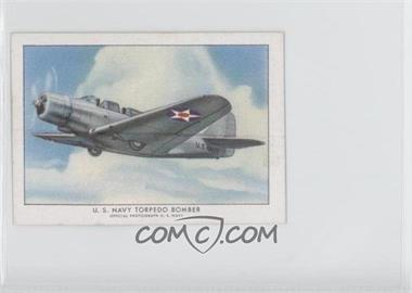 1940-42 Wings Cigarettes Series A - T87 #19 - U.S. Navy Torpedo Bomber