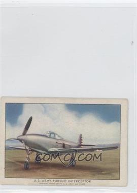 1940-42 Wings Cigarettes Series A T87 #1 - U.S. Army Pursuit Interceptor