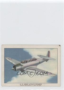 1940-42 Wings Cigarettes Series A T87 #14 - U.S. Army Attack Bomber