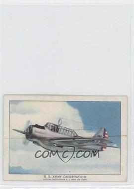 1940-42 Wings Cigarettes Series A T87 #9 - U.S. Army Observation