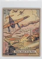 Filipinos Attack 54 Jap Planes