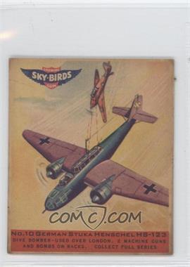 1941 Goudey Sky-Birds Chewing Gum R137 #10 - German Stuka Henschel HS-123