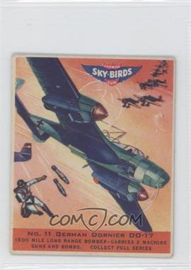 1941 Goudey Sky-Birds Chewing Gum R137 #11 - German Dornier DO-17