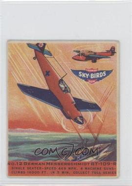 1941 Goudey Sky-Birds Chewing Gum R137 #12 - German Messerschmidt BT-109-R