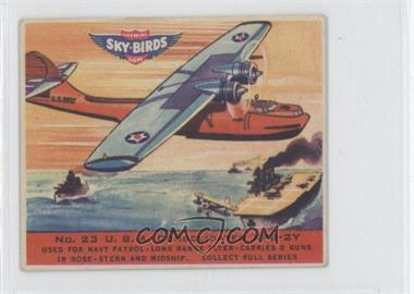 1941 Goudey Sky-Birds Chewing Gum R137 #23 - U.S.A. Consolidated XPS-2Y