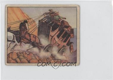 1949 Bowman Wild West #33 - Peril At The Pass
