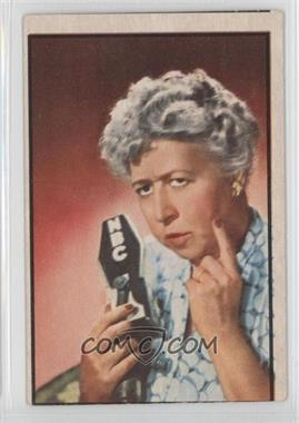 1953 Bowman Television and Radio Stars of the NBC Vertical Back #87 - Verna Felton