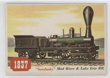 "1955 Topps Rails and Sails #76 - ""Sandusky"" Mad River & Lake Erie Rr"