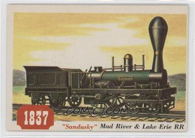 "1955 Topps Rails and Sails #76 - ""sandusky"" Mad River & Lake Erie Rr"