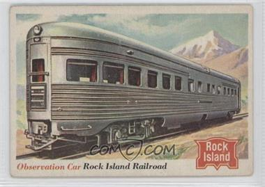 1955 Topps Rails and Sails #77 - Observation Car