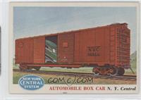 Automobile Box Car N.Y. Central