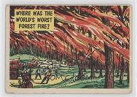 Where was the World's Worst Forest Fire? [Good to VG‑EX]