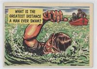 What Is The Greatest Distance A Man Ever Swam?