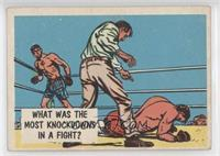 What was the most knockdowns in a fight?