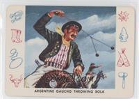 Argentine Gaucho Throwing Bola