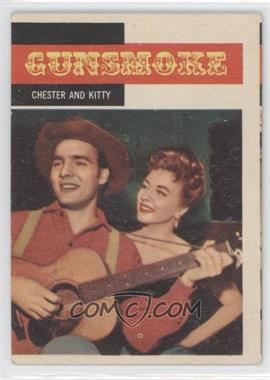 1958 Topps TV Westerns #5 - Chester and Kitty