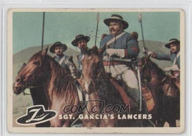 1958 Topps Walt Disney's Zorro! - [Base] #68 - Sgt. Garcia's Lancers [GoodtoVG‑EX]