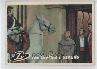 1958 Topps Walt Disney's Zorro! #44 - The Captain's Demand