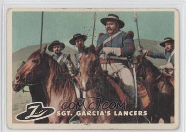 1958 Topps Walt Disney's Zorro! #68 - Sgt. Garcia's Lancers [GoodtoVG‑EX]