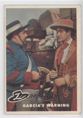 1958 Topps Walt Disney's Zorro! #8 - Garcia's Warning