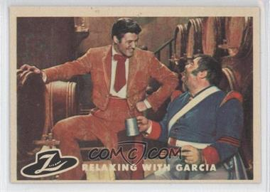 1958 Topps Walt Disney's Zorro! #80 - Relaxing with Garcia