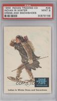 Indian in Winter Dress and Snowshoes [PSA9]