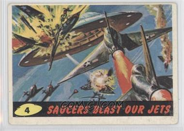 1962 Topps Bubbles Mars Attacks! #4 - Saucers Blast Our Jets [Good to VG‑EX]