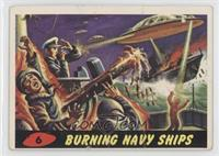 Burning Navy Ships [Good to VG‑EX]