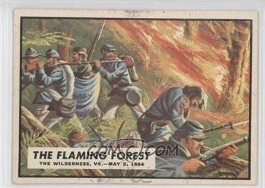 1962 Topps Civil War News [???] #61 - The Flaming Forest