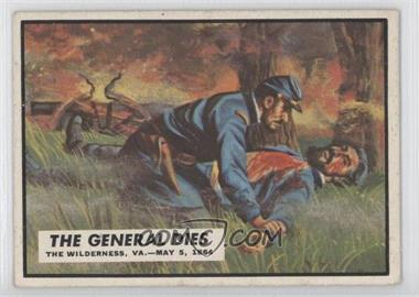 1962 Topps Civil War News [???] #62 - The General Dies