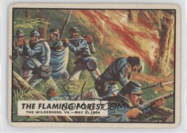 1962 Topps Civil War News #61 - The Flaming Forest