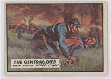 1962 Topps Civil War News #62 - The General Dies