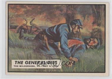 1962 Topps Civil War News #62 - The General Dies