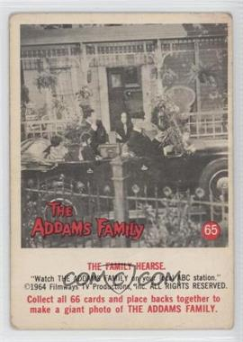 1964 Donruss The Addams Family - [Base] #65 - The Family Hearse