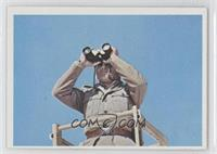 The Nazi sentry gazed out over the desert.