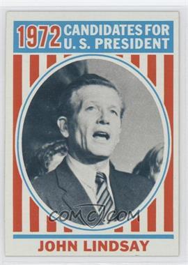 1972 Topps U.S. Presidents #39 - John Lindsay