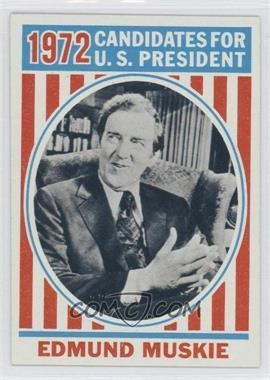 1972 Topps U.S. Presidents #41 - Edmund Muskie